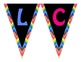 Welcome Banner Black & Bright Rainbow Chevron