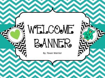Welcome Banner Black Chevron