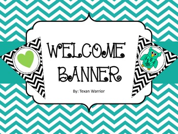 Welcome Banner Black Chevron
