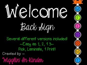 Welcome Banner - Black & White/Bright Colors {4 styles}