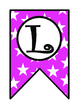 Welcome Banner: Black and Pink