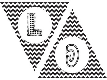 Welcome Banner Black and White Chevron
