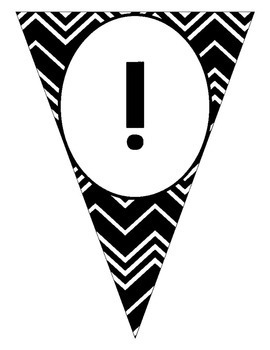 Welcome Banner in Black and White Chevron EDITABLE