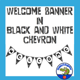Back to School Welcome Sign - Black and White Bulletin Board Letters Editable
