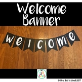 Welcome Banner (Black and White Theme)