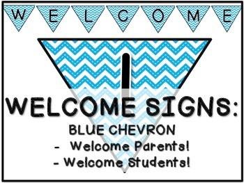 Welcome Banner: Blue Chevron