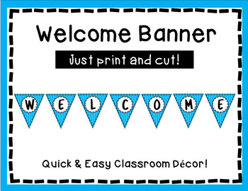 Welcome Banner - Blue Stripe Triangle Banner