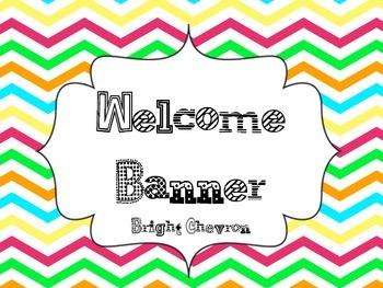 Welcome Banner Bright Chevron