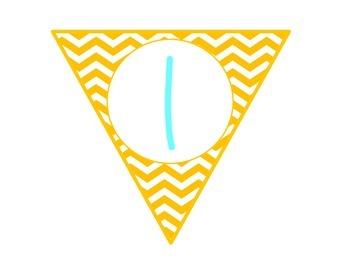 Welcome Banner {Bright Chevron}