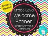 Welcome Banner - Bright Chevron & Chalkboard Theme