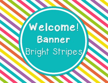 Welcome Banner - Bright Stripes