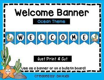 Welcome Banner - Bulletin Board - Starfish Theme - Ocean Theme