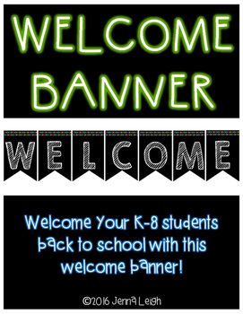 Welcome Banner (Bunting)