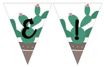 Welcome Banner Cactus Theme (11 x 17 in.)