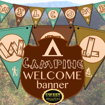 Welcome Banner (Camping National Parks Theme)