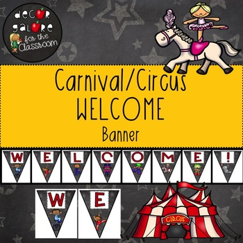 Welcome Banner - Carnival / Circus Decor