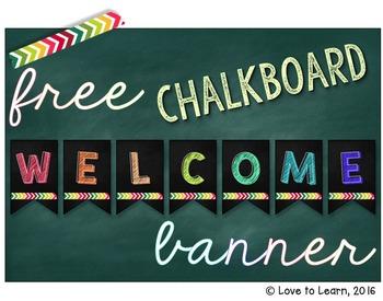 Welcome Banner - Chalkboard Background