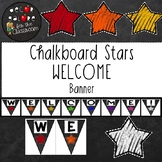 Welcome Banner - Chalkboard Stars Decor