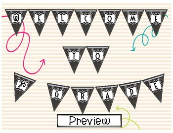 Welcome Banner- Chalkboard Theme