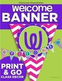 Welcome Banner {Chevron Pennants}