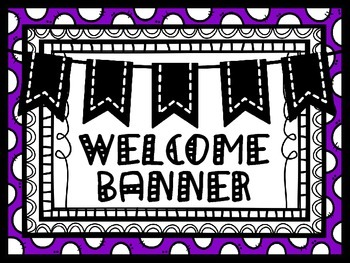 Welcome Banner Chevron and Purple