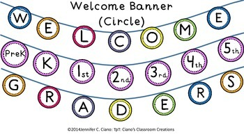 Welcome Banner (Circles)
