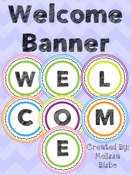 FREEBIE!! Welcome Banner Circles