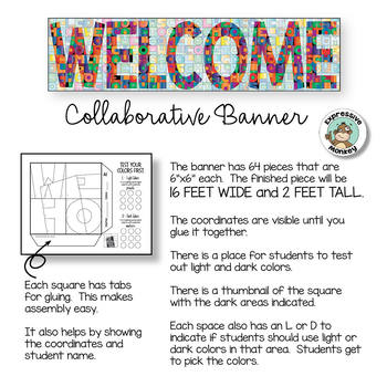 Welcome Banner - Collaborative Poster for Back to School