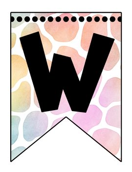 Welcome Banner- Colorful Giraffe Theme