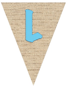 Welcome Banner **Cute Burlap-looking background