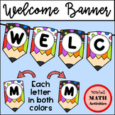 Welcome Banner (Dotted Top Pencils)