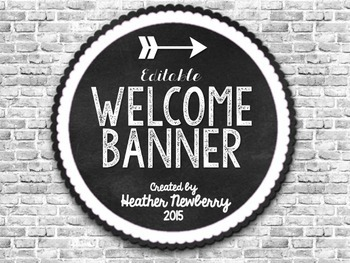 Welcome Banner: Editable Bleached Brick Design