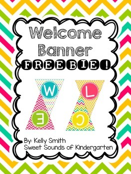 Welcome Banner!! FREEBIE!