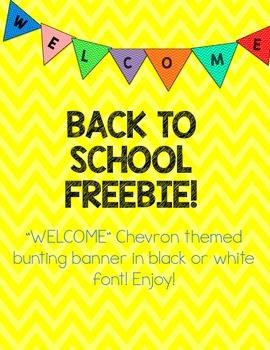 Welcome Banner *FREEBIE*