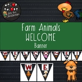 Welcome Banner - Farm Animals Decor