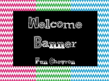 Welcome Banner Fun Chevron FREEBIE!