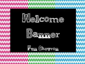 Welcome Banner Fun Chevron FREEBIE!