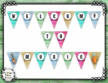 Welcome Banner {Hawaiian Beach}