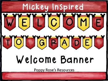 Welcome Banner Inspired by Mickey