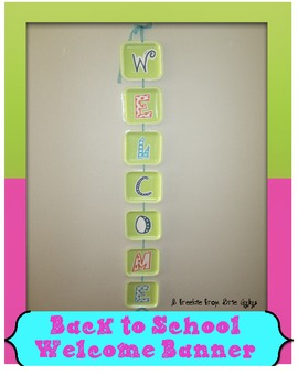Welcome Banner Lettering