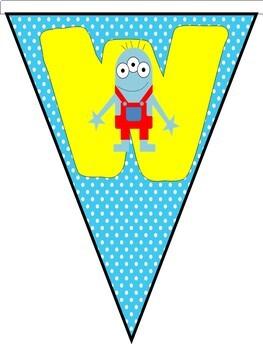 Welcome Banner {Mini Monster Themed}