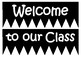 Classroom Welcome Banner & Name Tags