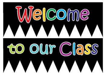 Classroom Welcome Banner & Name Tags by My Adorable Classroom | TpT