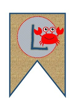 Welcome Banner - Nautical, Ocean, Burlap