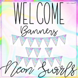 "Welcome Banner ""Neon Swirl""  FREEBIE!"