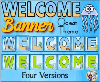 Ocean Theme Welcome Banner