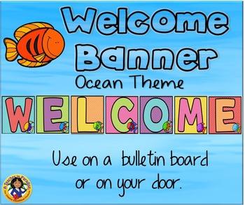 Ocean Theme Welcome Banner 3