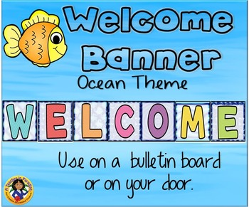 Ocean Theme Welcome Banner 2