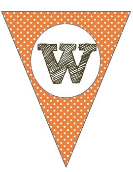 Welcome Banner: Orange/Brown