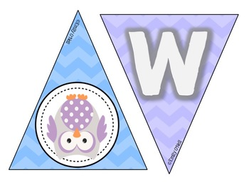 Welcome Banner (Owl Theme)